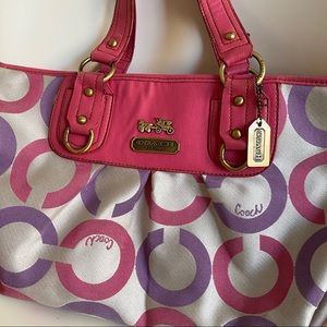 Vintage Purple and Pink Coach Purse